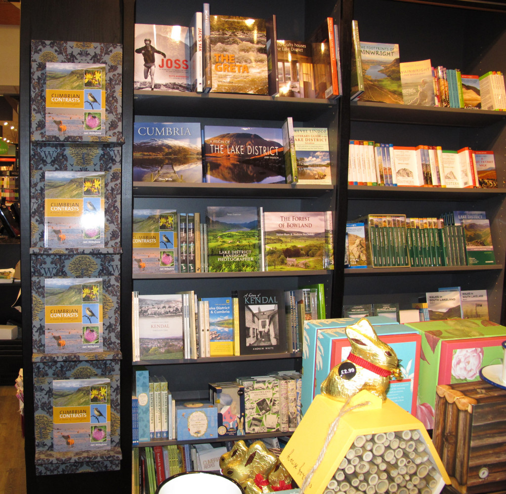 Books Displayed in Shop - Cumbrian Contrasts